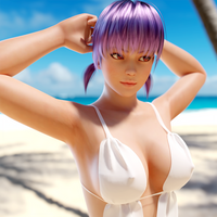 DoA - Ayane White Top by saqune