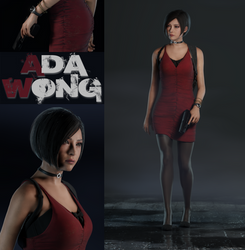 RE2 Remake - Ada Wong by saqune