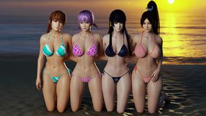 DoA - Girls at Sunset