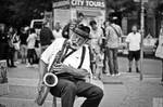 The Old saxophonist