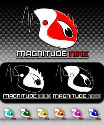 Magnitude 9's logo design