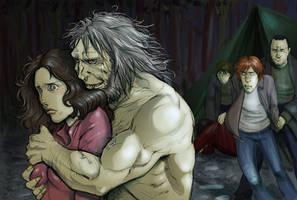 DH: Wolf and prey by Pojypojy