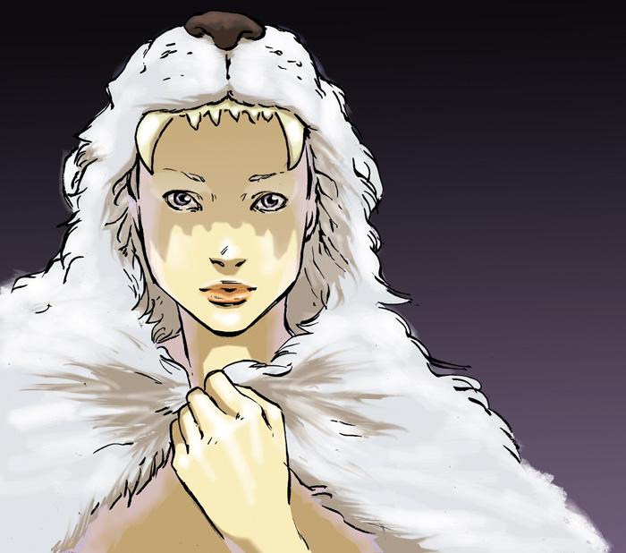 Painting White Lion Cloak