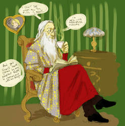 Dumbledore is not impressed by Pojypojy