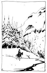 Lone rider by Pojypojy