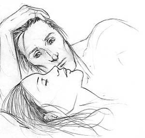 Rodolphus + Bellatrix sketch