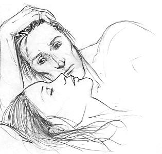 Rodolphus + Bellatrix sketch by Pojypojy