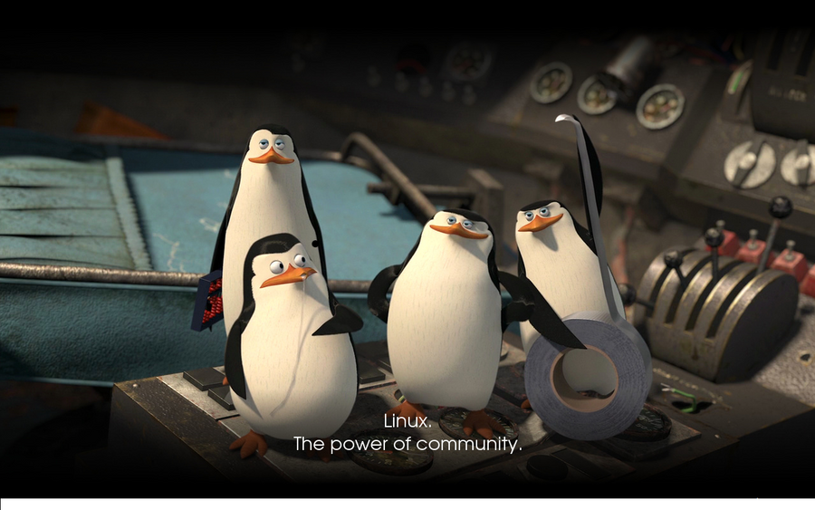 Linux Penguins Wallpaper