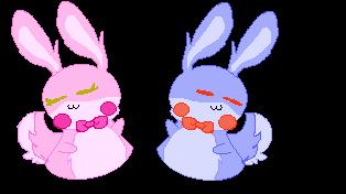 ~ bonnet and bonnie(??) by nightmarecatqwe