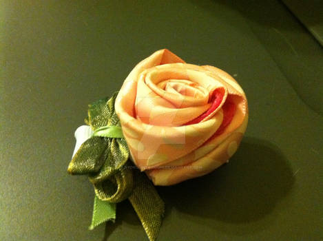 rose hair bow