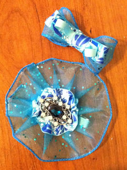 blue sea hair bows