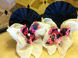 Custom twin bow set Minnie Mouse Ears