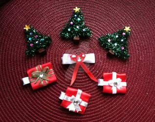 Christmas Hair Bow sets