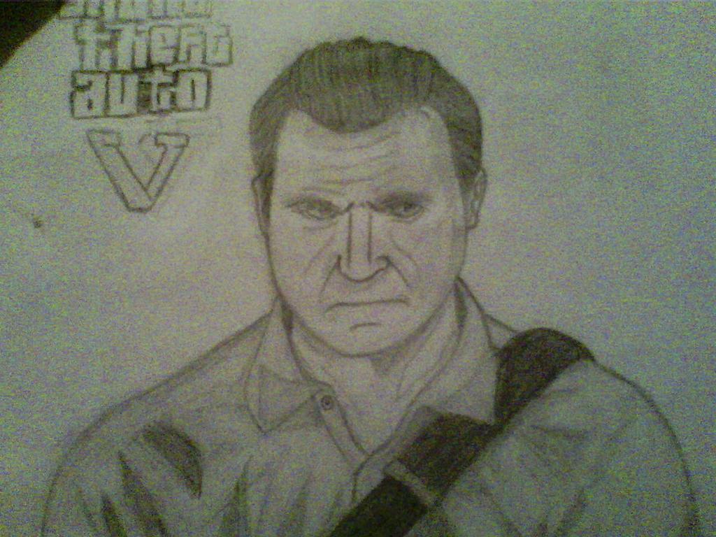 gta 5 michael drawing - photo #3
