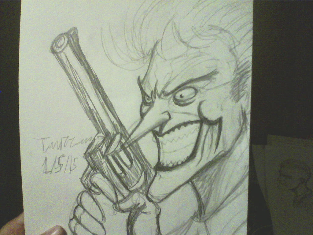 jim lee joker sketch by ThomasDrawsStuff