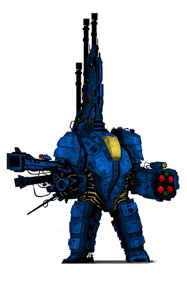 Brutal Blue Battle Suit by UltimateOshima