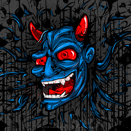 Crazy Oni Mask by UltimateOshima