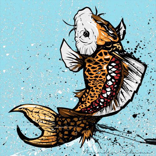 Koi Fish colored by UltimateOshima