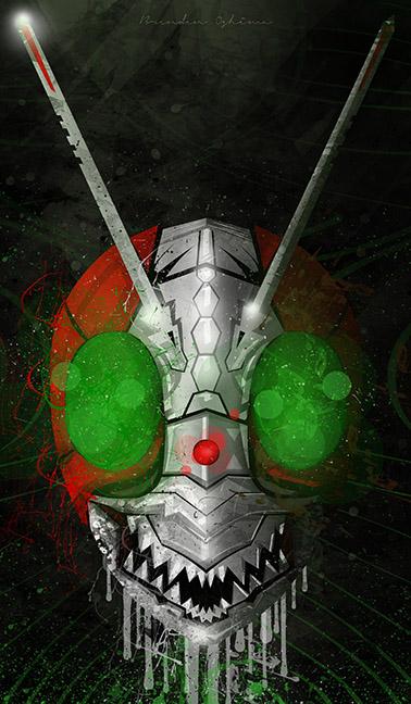 Creepy Masked Ridder by UltimateOshima