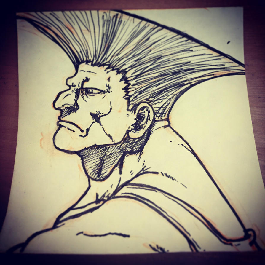Guile Post-It by UltimateOshima