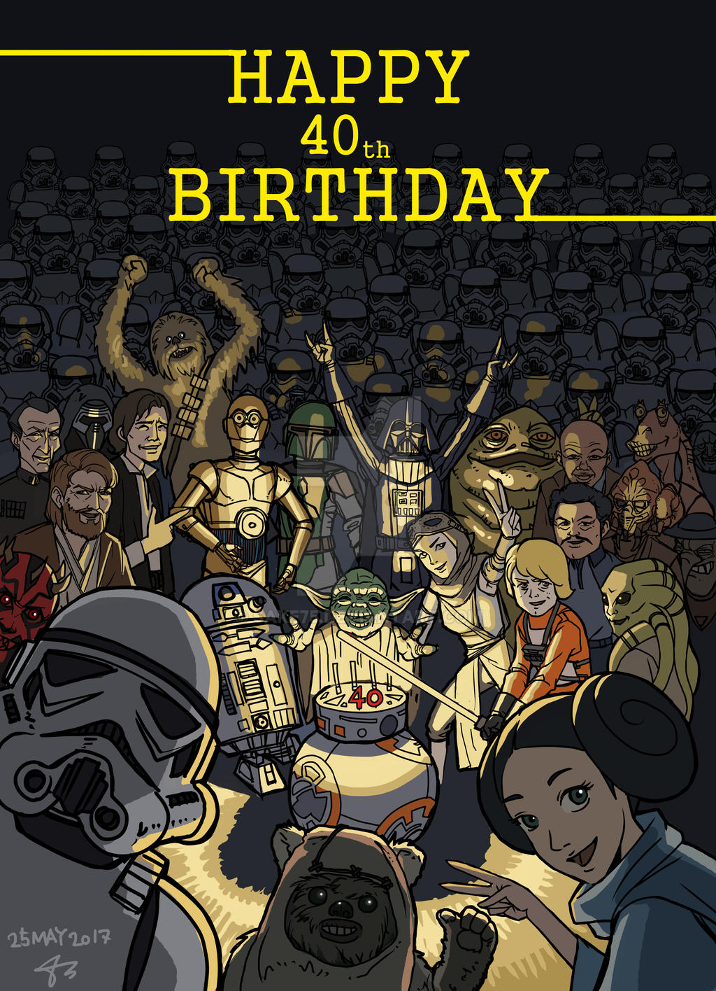 Happy Birthday To Starwars By Sake75 On Deviantart