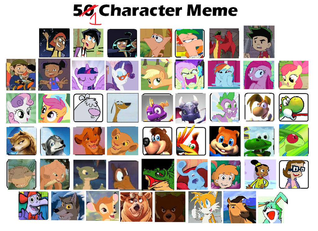 51 Character Meme By JustinandDennis On DeviantArt