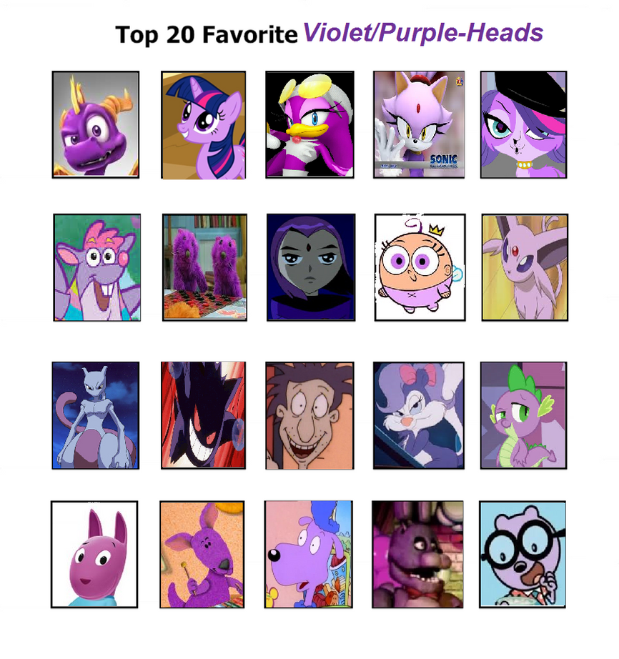 My top 20 Purple haired characters by JustinandDennnis on ...