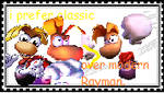 Classic over Modern Rayman Stamp by JustinandDennis