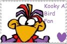 Kooky A. Bird fan stamp by JustinandDennnis