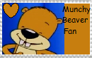 Munchy Beaver fan stamp by JustinandDennnis