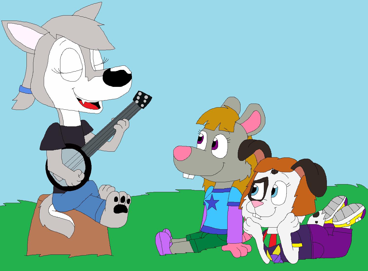 Cindy's Banjo Practice by JustinandDennnis