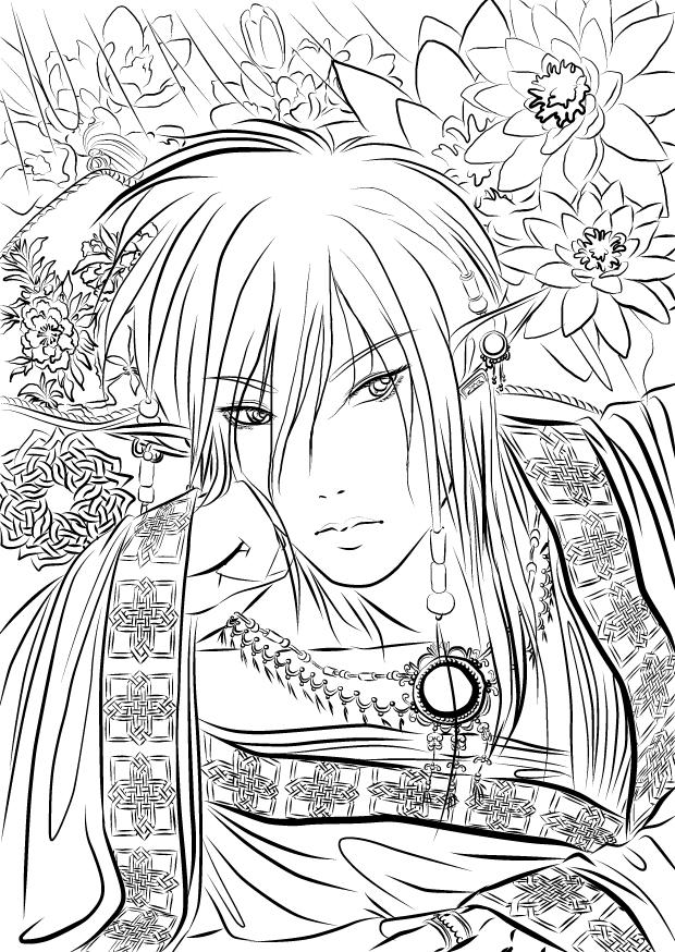 Elf Prince Lineart by SpookyKabuki on DeviantArt
