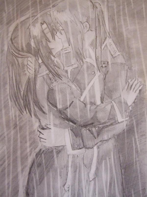 Kiss in the rain by FullMetalWing on DeviantArt