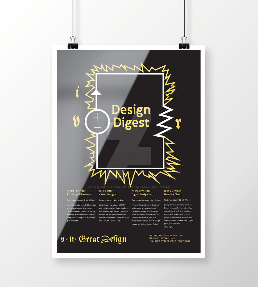 Design Digest Poster by Theartistmusician