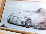 Mercedes A class WRC Rally car...