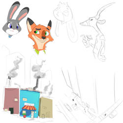 Zootopia Sketch Dump by RWHicks