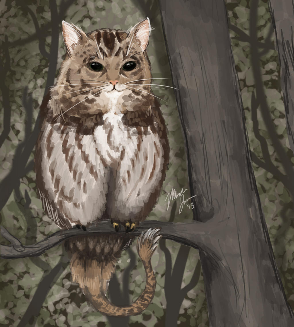 October 12 - Catowl by shelldragon