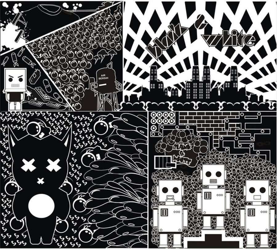 vEctor blAck_White by wipi035