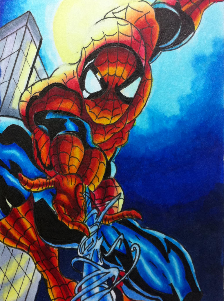 Spiderman Sketch Card by cuky04