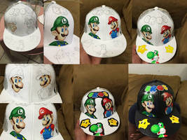 Hand Painted Custom Cap Hat!! by cuky04