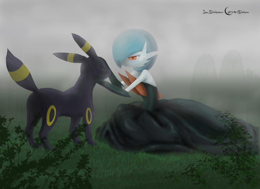 Shiny Mega Gardevoir Wallpaper: Shiny Mega Gardevoir And Umbreon By Lucadarkshadow On