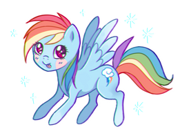 Rainbow Dash by chocowhiskers