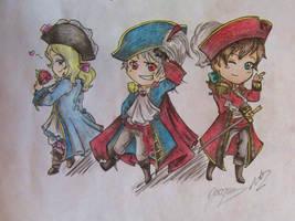 Piratalia: Bad Friends Trio by 1dplover