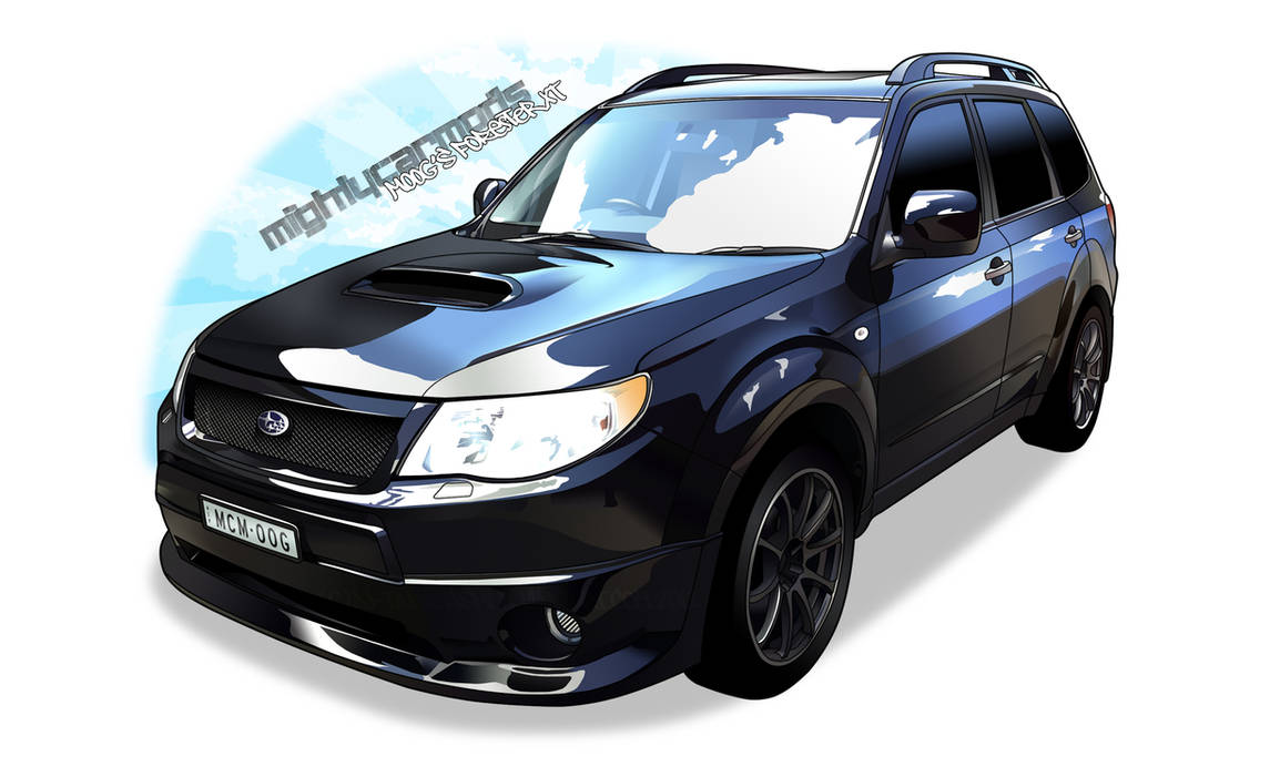 Mighty Car Mods Moog's Forester XT by djSeragaki on DeviantArt