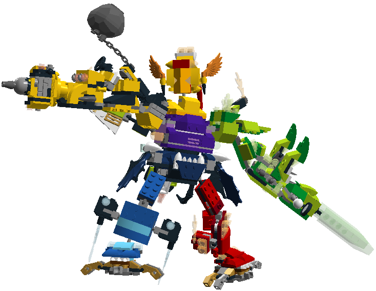 Lego Mixels Max Kaiser Combined By Darktidalwave On Deviantart