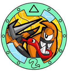 Mixels Yo-Kai Watch: Cobrax Medal by DarkTidalWave