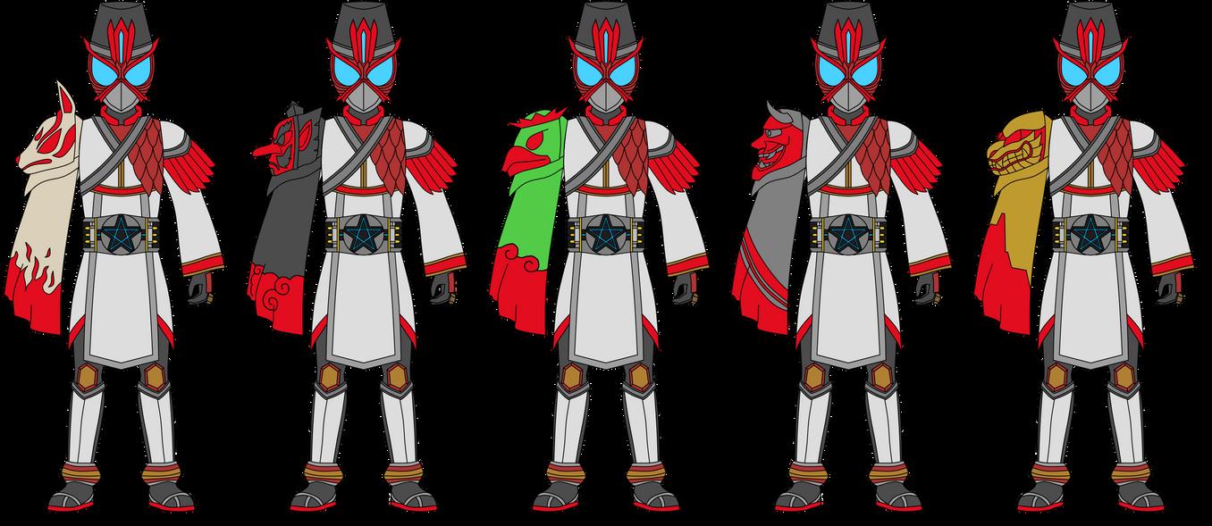 Kamen Rider Onmyodo: Mantles by DarkTidalWave
