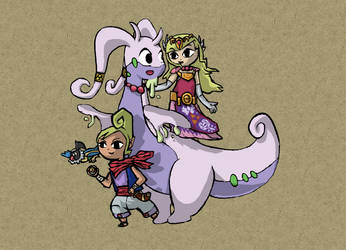 Wind Waker Pokemon: Zelda and Tetra by Totallyhypnosquid