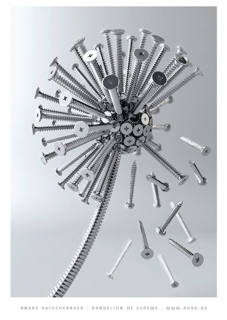 Dandelion of screws by Kutsche