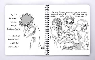 Hair  Notebook by Aidadaism